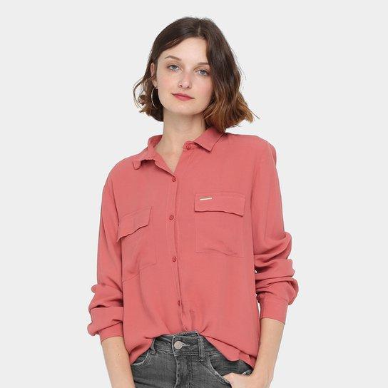 Camisa Colcci Manga Longa Bolsos Feminina - Compre Agora  3bf198e84e044