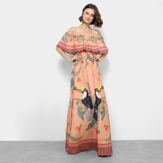38790acb7c Vestido Colcci Longo Evasê Estampado - Compre Agora