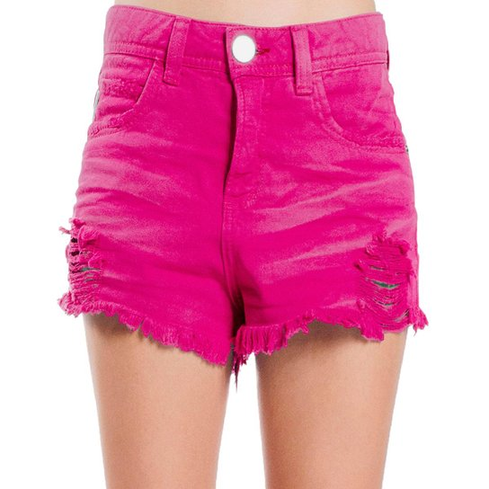 a7e359517 Shorts Sarja Destroyed Used Desfiado Color Colcci - Rosa - Compre ...