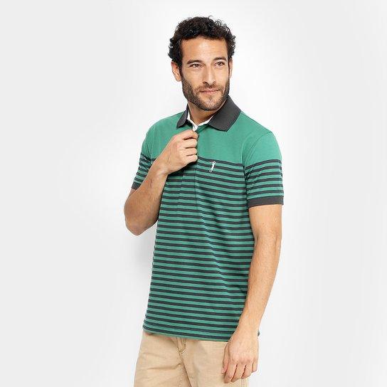Camisa Polo Aleatory Fio Tinto Listras Masculina - Compre Agora ... ea9b141b61db7