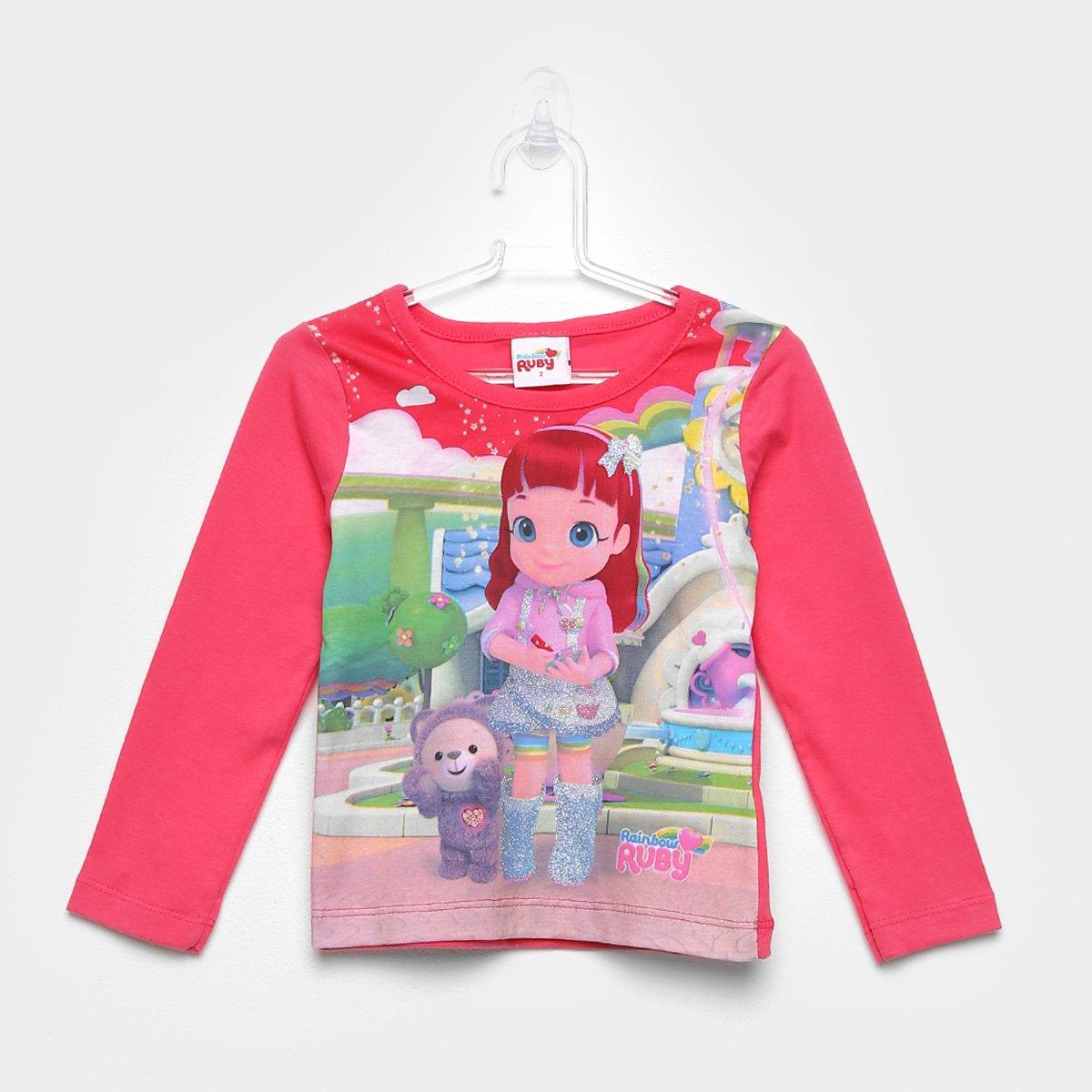 Blusa Infantil Brandili Rainbow Ruby
