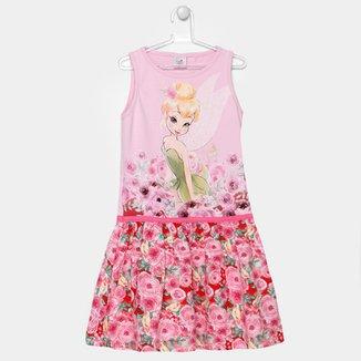 c0a4b7023 Vestido Fakini Disney Fadas Infantil