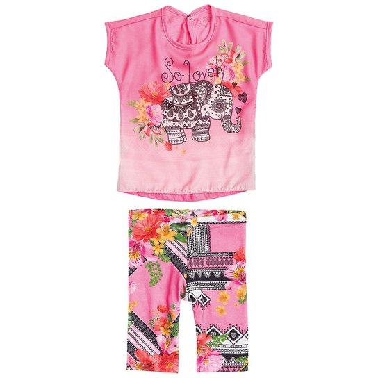 Conjunto Infantil Carinhoso So Lovely Feminina - Rosa - Compre Agora ... 066ce5f66a6