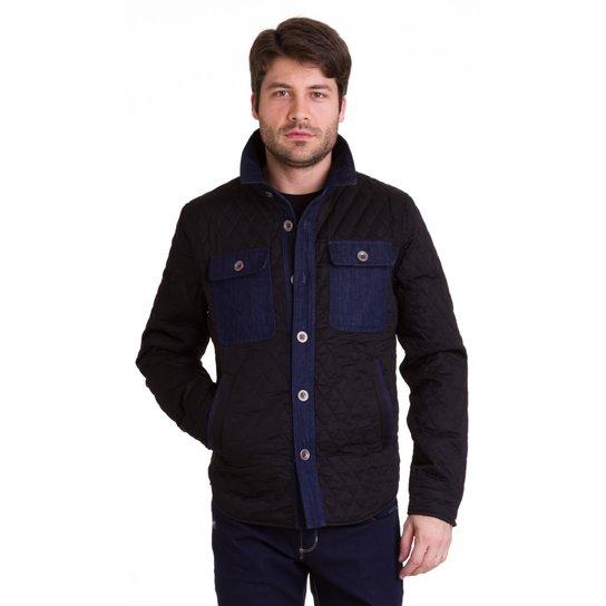 Jaqueta masculina Versani - Preto e Azul - Compre Agora  3b214941d5785