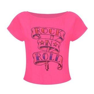 dbdbed6a7f Blusa Cropped OutletDri T-Shirt Feminina