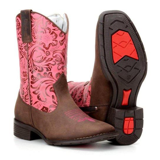 d8e6342f12a4a Bota Infantil Country Texana Rodeio Capelli Feminina - Rosa - Compre ...