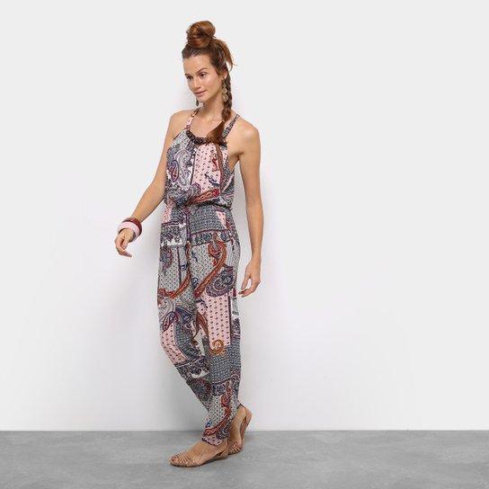 Macacão Longo Top Moda Estampado Feminino - Compre Agora  cdd6d8cd177