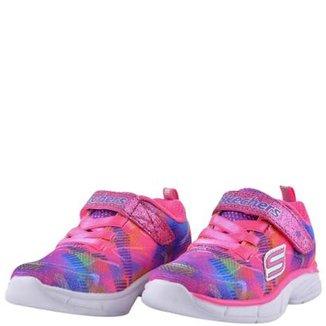 306b57609b2 Tênis Infantil Skechers Rainbow Raz Feminina