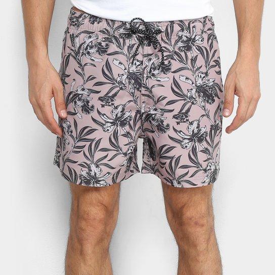 Bermuda MCD Sport Wild Flowers Masculina - Rosê - Compre Agora  1b5cd8c4737