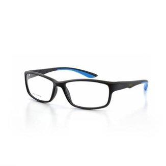 6de0b2ece Armação De Óculos De Grau Cannes 6682 T 57 C 6 Esportivo Masculino
