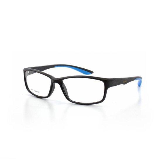 06e6572c7b515 Armação De Óculos De Grau Cannes 6682 T 57 C 6 Esportivo Masculino - Preto+