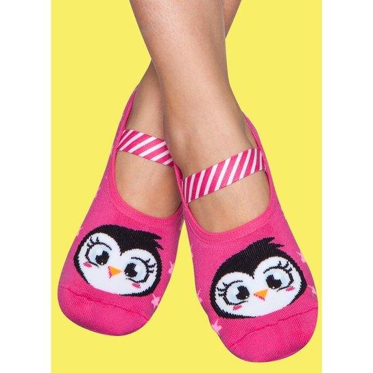 0235a0434 Meia Sapatilha Emborrachada Pinguim Adulto Puket Feminina - Compre ...