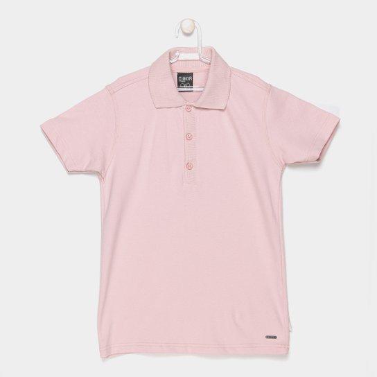 e9662f9d6d Camisa Polo Tigor T. Tigre Básica Masculina - Rosa - Compre Agora ...