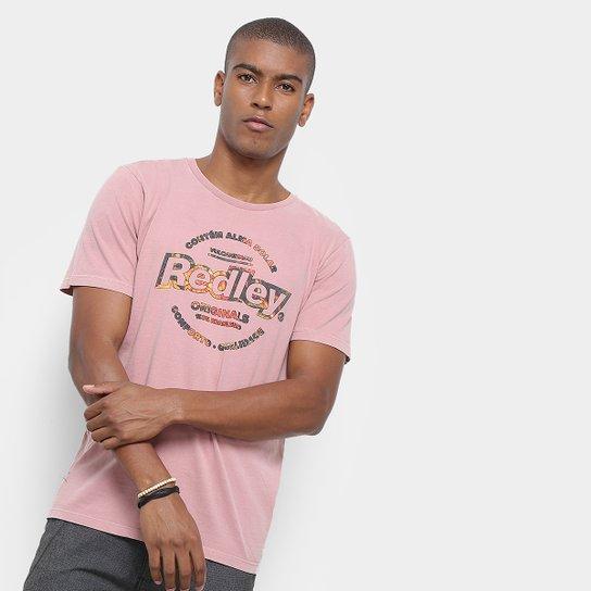 91ef5ab5b11 Camiseta Redley Originals Estampada Masculina - Rosa - Compre Agora ...