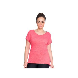 70a7f75ce Camiseta Baby Look Rosa Marcyn Fitness Plus Size Rosa