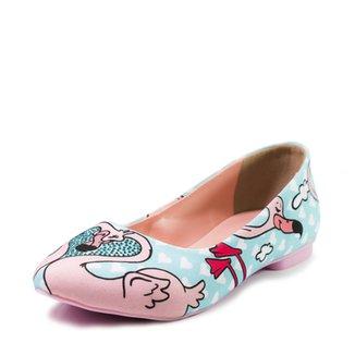 e27cc4cec9 Sapatilha Shoes INBOX Bico Fino Cupcakes Shoes Feminina