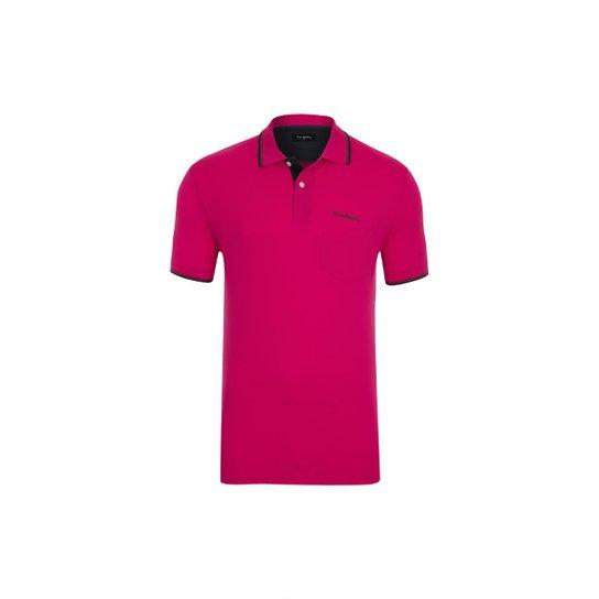 ba7298c43a Polo Pierre Cardin Piquet Com Bolso - Rosa - Compre Agora