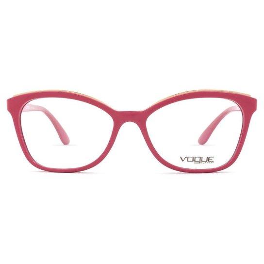 f1d434fc9 Óculos de Grau Vogue Metal Twist VO Feminino - Rosa - Compre Agora ...