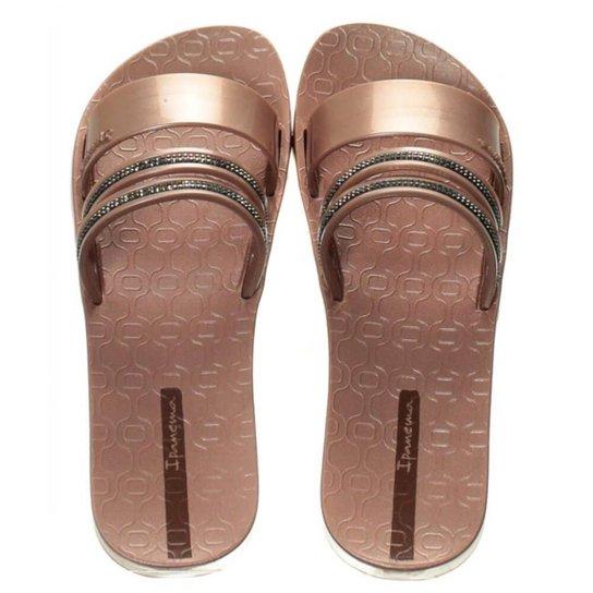 af66e67aca Chinelo Ipanema New Glam Slide Feminino - Rosa - Compre Agora