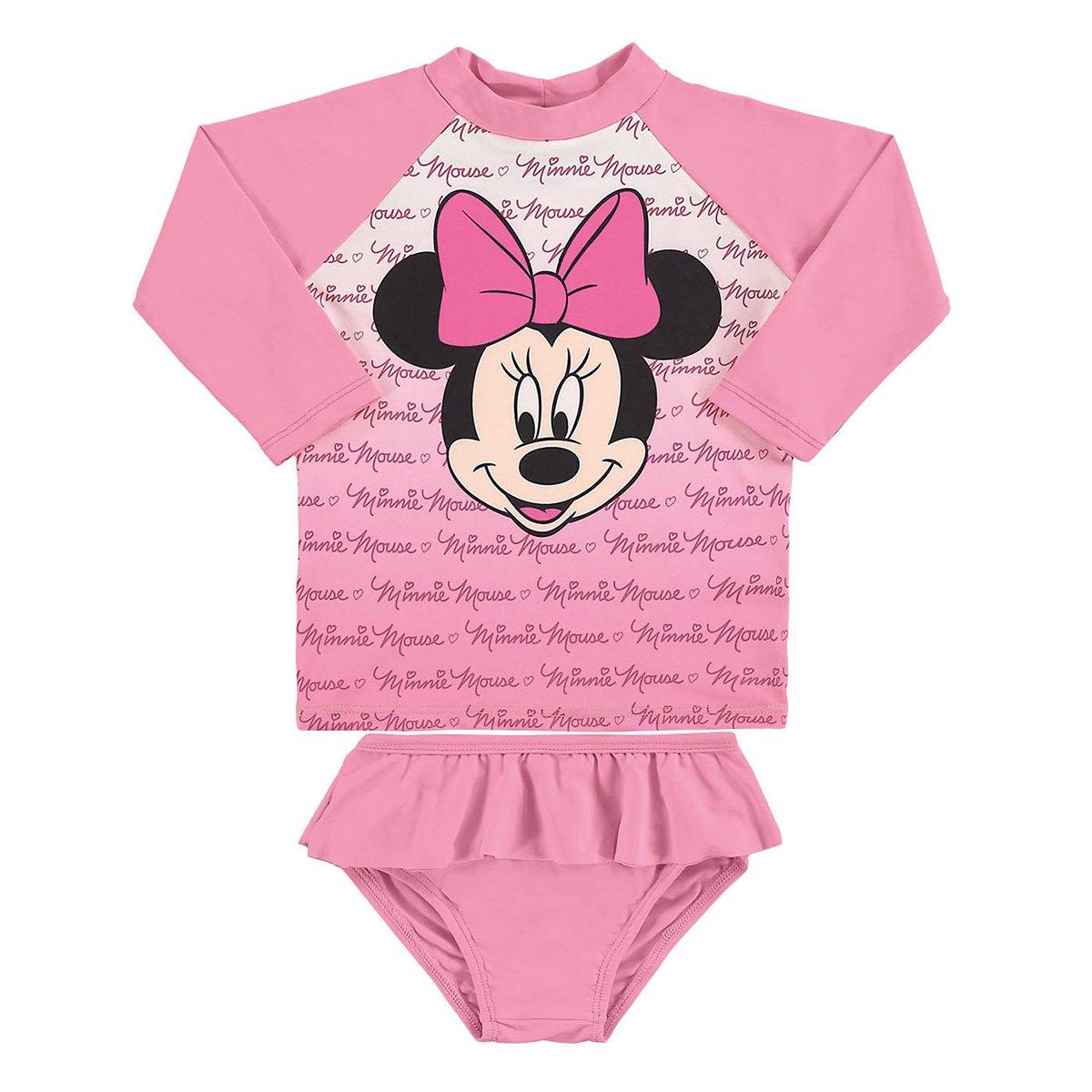 Conjunto Bebê Marlan Proteção UV Disney Minnie Feminino