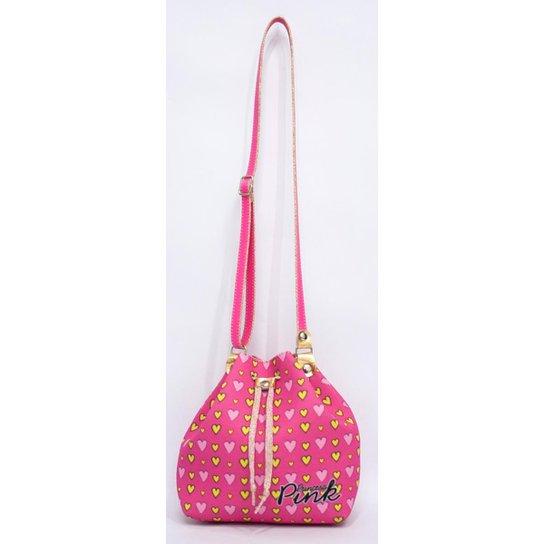 44cbcf6e5 Bolsa Infantil Princesa Pink Mochila Coração Feminina   Zattini