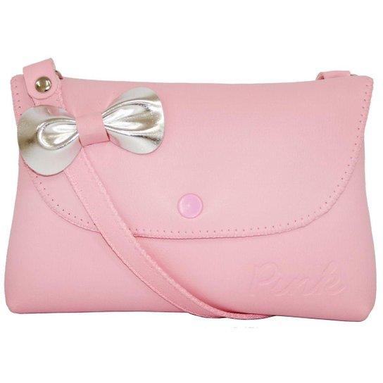 Bolsa Infantil Princesa Pink Sintética com Laço Aplicado Mini Carteira -  Rosa 22c1a87ff6e