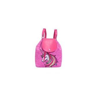 03219a22e Bolsa Infantil Princesa Pink Mochilão Unicórnio