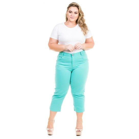 96b7ef0b7 Calça Capri Confidencial Extra Plus Size de Sarja Feminina - Compre ...