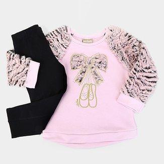 e825c3c317 Conjunto Infantil Milon Longo Pelo Ballet Feminino