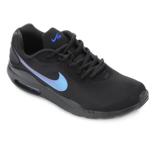 cb785ffec Tênis Nike Air Max Oketo Masculino - Preto e Azul - Compre Agora ...