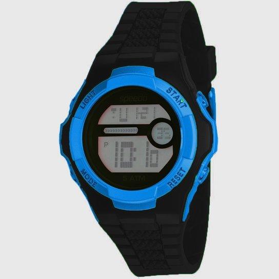de407ce1058 Relógio Shoploko Speedo Pulseira De Plástico - Preto e Azul - Compre ...