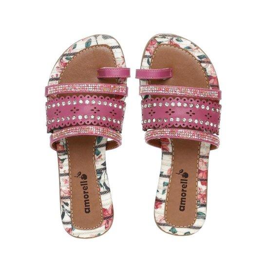 Chinelo Infantil Rasteirinha Amorello Feminino - Rosa - Compre Agora ... 512476e313