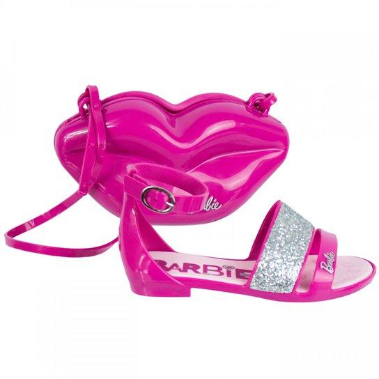 42c7c64a4 Sandália Infantil Grendene Barbie Pop Glan C/ Bolsa 21365 | Zattini
