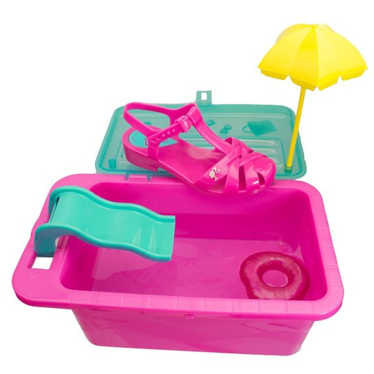 897943d4b Sandália Infantil Grendene Barbie Festa Na Piscina 21600   Zattini