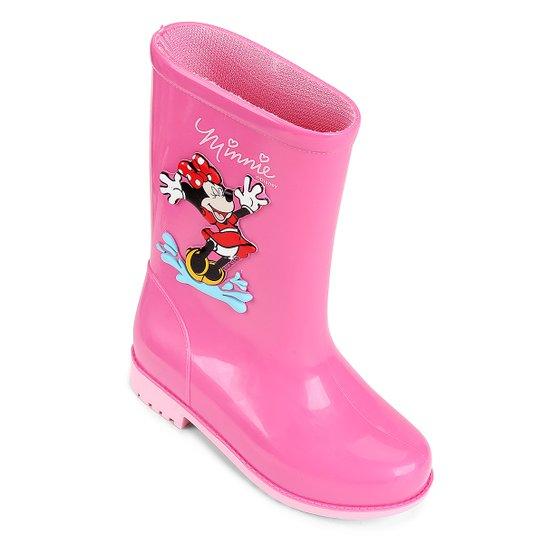 b3f952f7b36 Bota Infantil Galocha Grendene Disney Fashion Feminina - Rosa