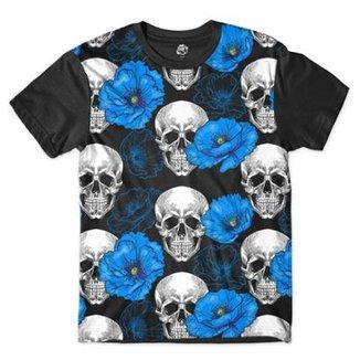 97320e1dd6 Camiseta BSC Caveira Lírio Sublimada Masculina