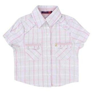71e0b6fff8cdb Camisa Infantil Tassa Xadrez Feminina