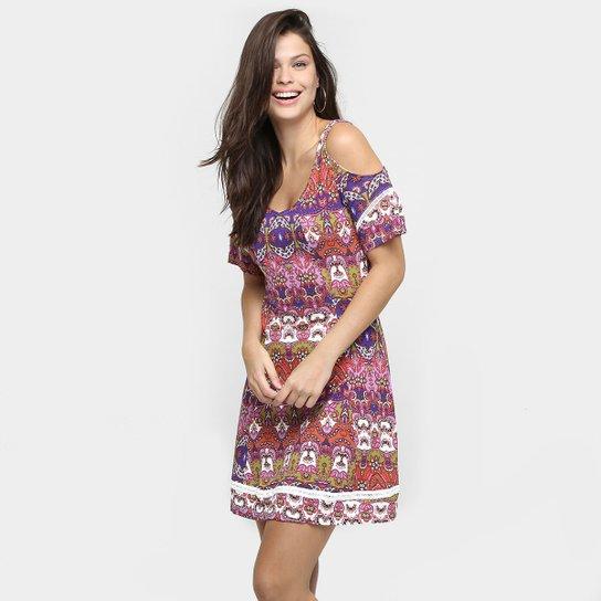 0c6ff659ec2 Vestido Sofie Estampado Recortes - Compre Agora