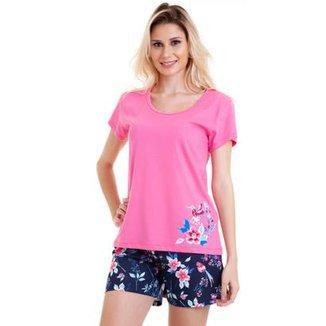 357e8693b Pijama Feminino em Algodão Luna Cuore