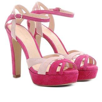 c8d7745996 Sandália Couro Shoestock Meia Pata Mix Cores Feminina