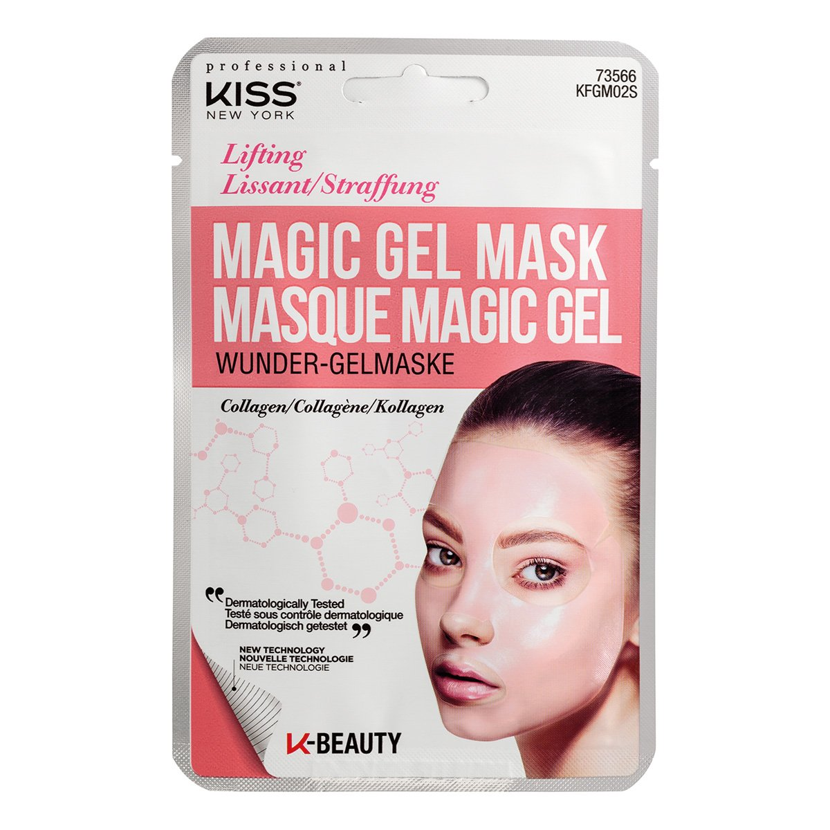 Máscara Facial Kiss New York - Magic Gel Mask Colágeno - 1 Unid.