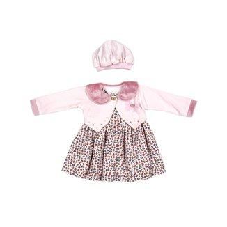 Vestido Infantil com Plush Para Menina Bebê - Rosa 24cebf07a37
