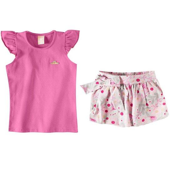 Conjunto Infantil Blusa e Saia Shorts Colorittá Feminina - Compre ... 344f0f2bfabee