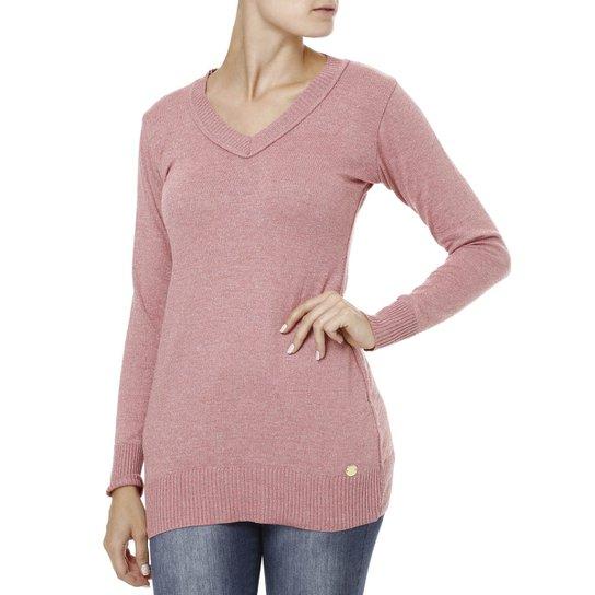 Suéter Feminino Rosa - Compre Agora   Zattini 93b957fce7