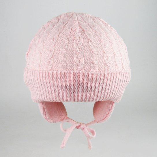 ca417ce0e85f0 Touca Bebê Trançada - Rosa - Compre Agora