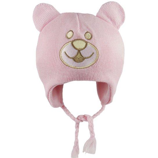 5248009286720 Touca Bebê Feminina Rosa Ursinha-P - Rosa - Compre Agora