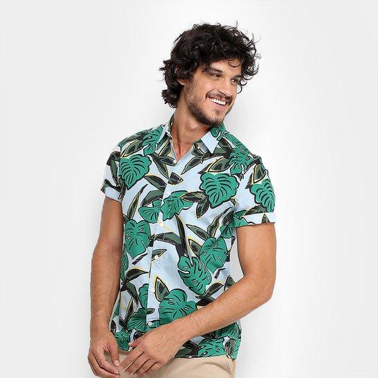 Camisa Lacoste Live MC Skinny Fit Costela de Adão Masculina - Compre ... d595139aed