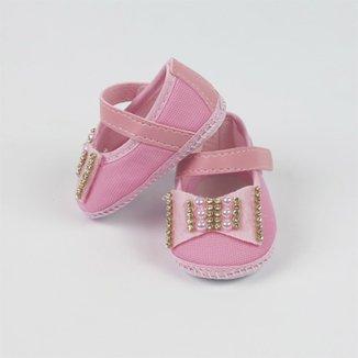 8b7cb90a2c Sapato Nina Baby com Laço e Strass