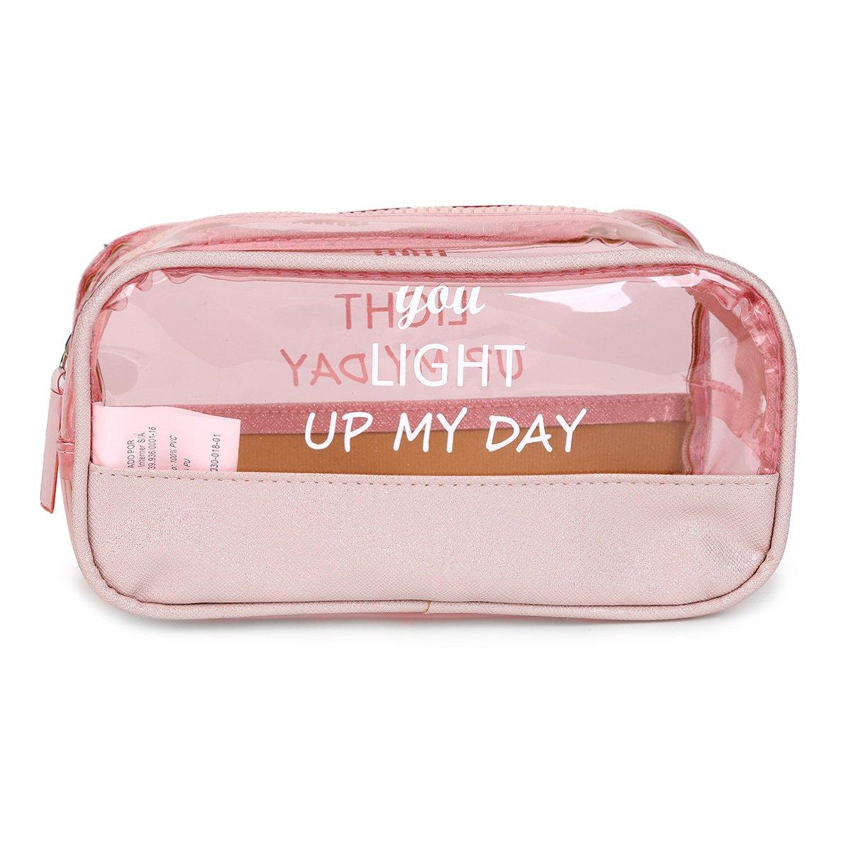 Necessaire Drezzup You Light Up My Day Transparente Feminina