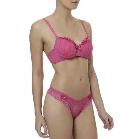 89a992e15 Conjunto de Lingerie Feminino Rosa - Compre Agora